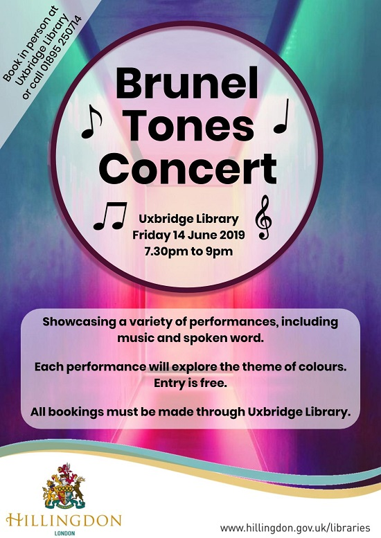 Brunel Tones Music Concert in Uxbridge Library